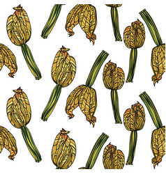 seamless pattern with zucchini vector image