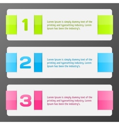 set colorful banners vector image