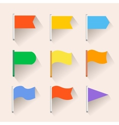 Set of Flag icons Flat style vector image