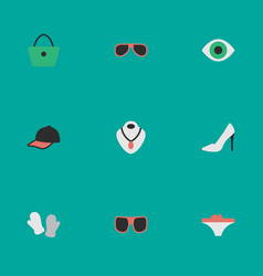 Set of simple equipment icons elements eye vector