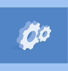 settings isometric icon vector image