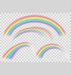 shine rainbow set rainbows isolated on vector image