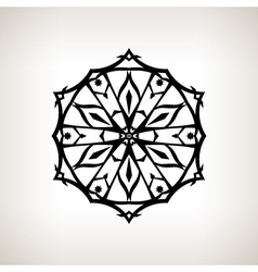 Snowflake on a Light Background vector image