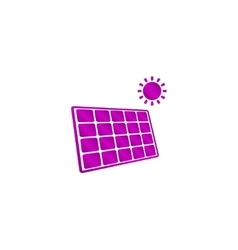 Solar energy panel Modern design flat style vector