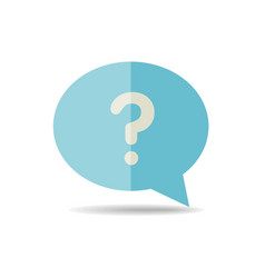 speech bubble with question mark icon vector image