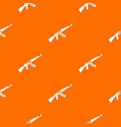 submachine gun pattern seamless vector image