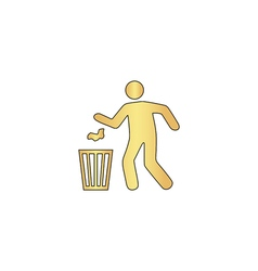Trash bin computer symbol vector image