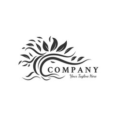 Trees logo designs inspirations root leaf vector