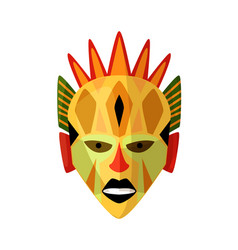 tribal african mask isolated on white background vector image