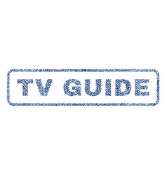 tv guide textile stamp vector image