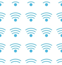 Unique Wi-fi seamless pattern vector image
