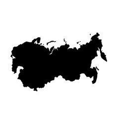 ussr country black silhouette isolated on white vector image