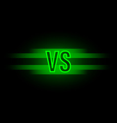 versus screen design vector image