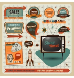 Vintage And Retro Design Elements vector