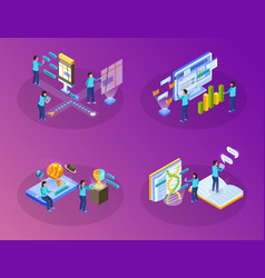 virtual augmented information concept vector image
