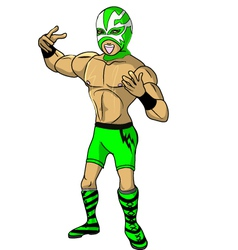 wrestler Shock vector image