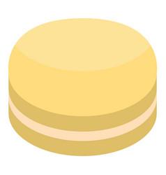 Yellow macaroon icon isometric style vector