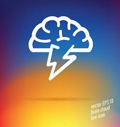 brain cloud thin line icon vector image