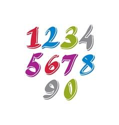 Contemporary handwritten digits numerals vector image