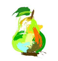 Drawing pear vector image vector image