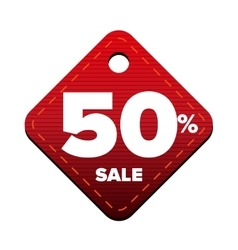 Sale fifty percent pricetag red vector image