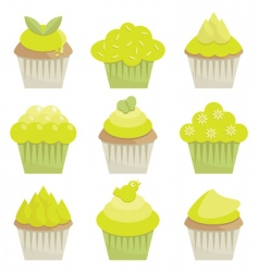 spring cupcakes vector image