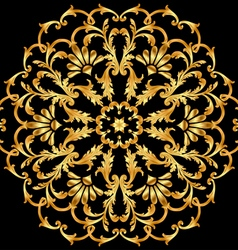 Background with a circular gold ornaments vector