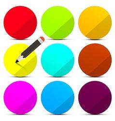 Colorful Circle Labels Set Design Element Empty vector image