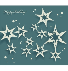 Elegant Birthday Card with stars vector image vector image