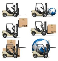 Forklifts vector