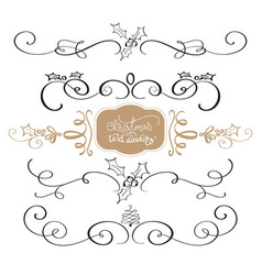 merry christmas calligraphy collection of design vector image