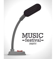 music festival design vector image vector image