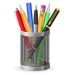 set icons pen and pencil 02 vector image vector image