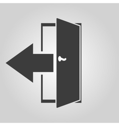 The exit icon Logout and output outlet out vector image