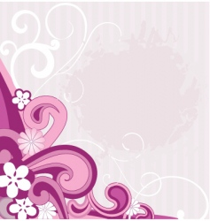 flowers and waves vector image