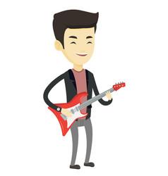 Man playing electric guitar vector