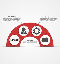 Modern infographic Design elements vector image vector image
