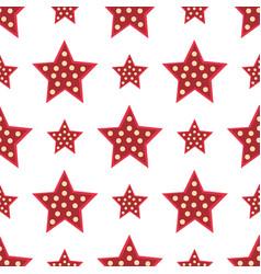 stars red decorative modern print wallpaper vector image