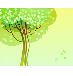 trees in bloom vector image vector image
