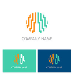 abstract line building logo vector image vector image