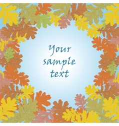 Autumn background with round leaves vector image