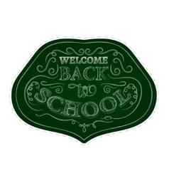 Back to school badges sticker set White chalk vector image