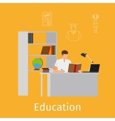 Education concept with learning vector image vector image