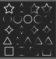 Light geometry objects set for your design vector