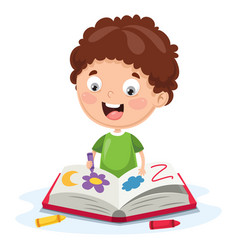 of a kid coloring book vector image