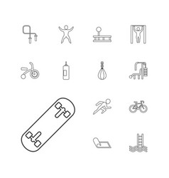 13 exercise icons vector