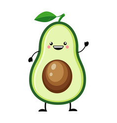 avocado in flat style isolat vector image