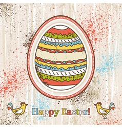 background with one easter egg and text vector image