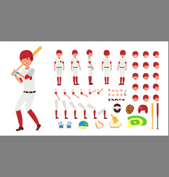 baseball player animated character vector image