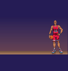 basketball player background vector image